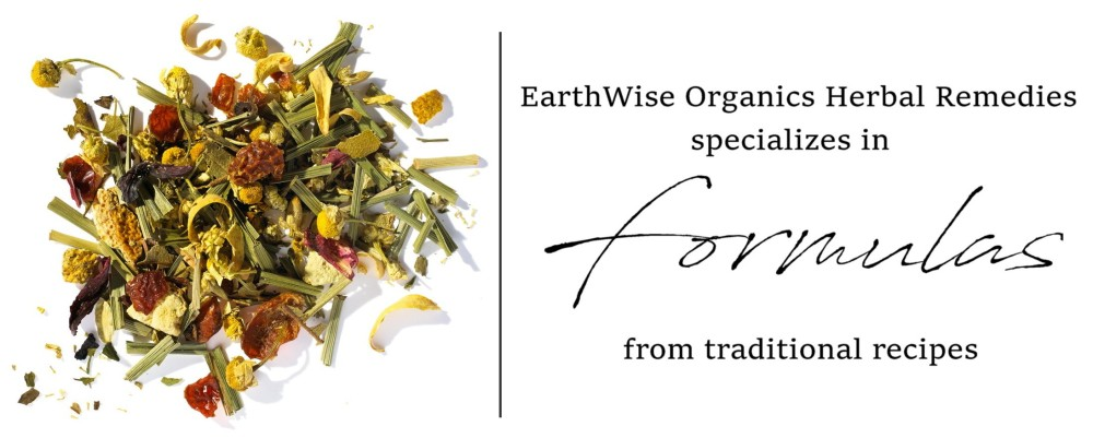 EarthWise Organics Herbal Remedies specializes in Formulas from traditional recipes